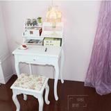 儿童书桌书架组合松木欧式书桌实木简约现代写字台电脑桌简欧书台