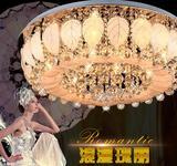圆形客厅灯家用led水晶吸顶吊灯卧室内遥控大灯现代简约大气欧式