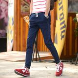 九分裤男韩版小脚裤男士牛仔裤夏季薄款束脚裤男生裤子收腿9分裤