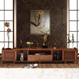 实木电视柜地柜 现代简约可伸缩地柜 水曲柳现代中式家具特价包邮
