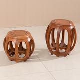 红木鼓凳圆凳实木凳子古筝凳仿古换鞋凳小矮凳中式花梨木鼓櫈特价