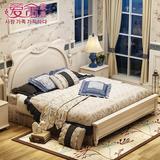 实木床儿童床韩式田园床公主床储物床1.5米男孩女孩床1.2卧室家具