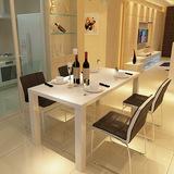 现代简约餐桌椅组合 长方形钢琴烤漆餐台饭桌 一桌四椅4人桌子