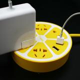 柠檬智能排插彩色桌面插线板接线板带USB创意电源插座充电插排