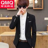 三件套青少年春季韩版西装套装男帅气修身型潮流男装西服外套学生