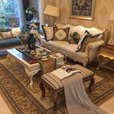 欧式新古典实木布艺沙发 简欧样板房间沙发组合 酒店别墅定制家具