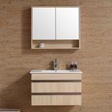 现代简约浴室柜镜柜组合 卫生间实木卫浴洗脸洗手盆储物柜 016