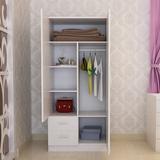 特价简易儿童板式实木质两门衣柜卧室组装简约现代衣橱阳台储物柜