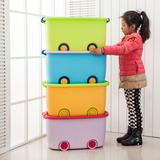 大号玩具收纳箱塑料儿童有盖收纳盒衣服衣物整理箱被子储物箱滑轮