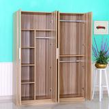 衣柜简易宜家实木质板式儿童2门3门4门组合大衣柜子衣橱组装家具