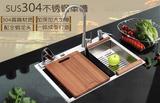 良 纯水工加厚不锈钢水槽 厨房拉丝方梯形带益水孔单槽
