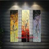 新品现代无框手绘壁画客厅卧室装饰巴黎舞人物抽象3联欧式美油画