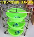 不锈钢脸盆架防水大号浴室卫生间三角架转角架厨房置物架落地特价