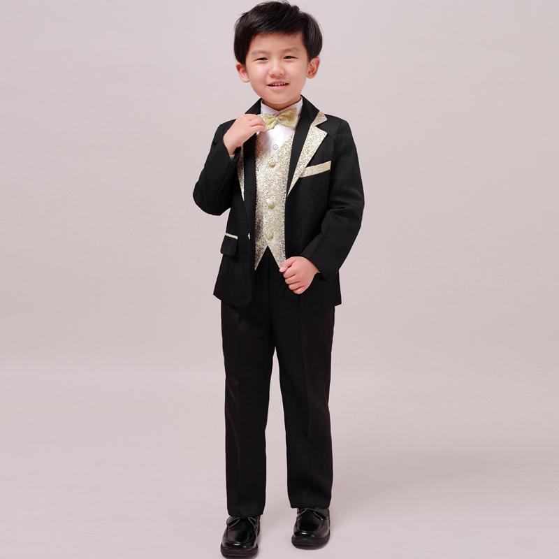 萌卡斯 儿童西装西服韩版套装 主持人服装 婚礼花童礼服男童 现货商品图片