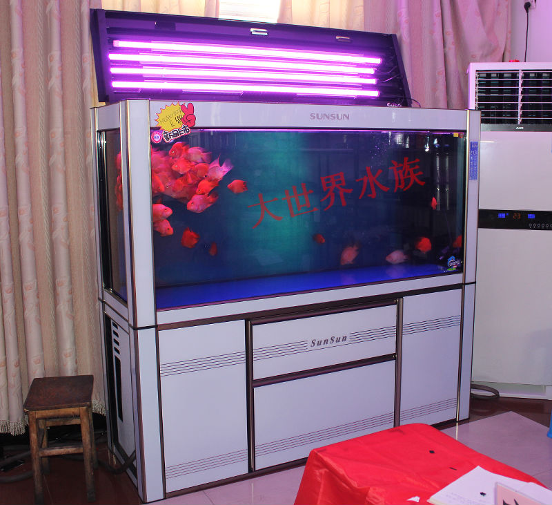新款 森森hlgx-ii 2代 强大底过滤 自动换水 高档龙鱼缸 1500f商品图片