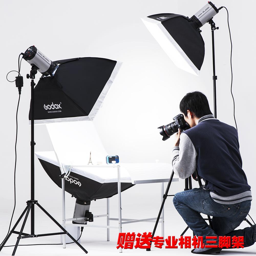 神牛摄影灯摄影棚套装250w升级版闪光灯柔光灯影室淘宝摄影棚道具商品