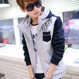 青少年卫衣男春秋修身连帽外套男装韩版男士外衣春季学生夹克潮薄