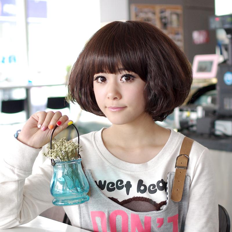 2013最新韩式女生短发蛋卷头_发型设计图片