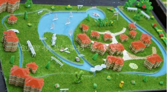 中天城市梦想区域规划建筑diy小屋拼装沙盘场景迷你玩具模型礼品商品
