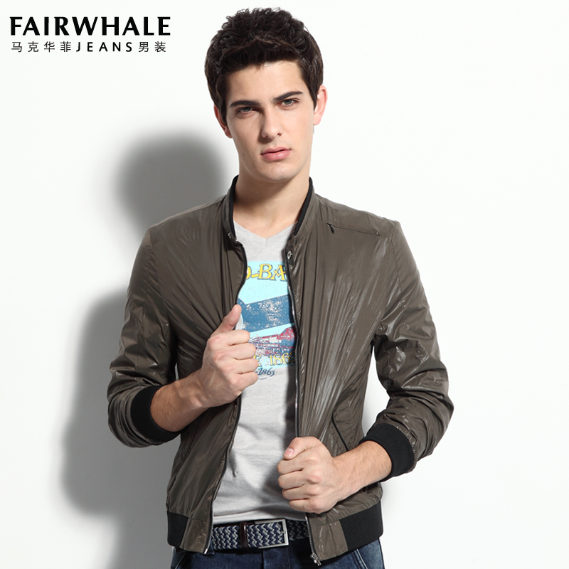马克华菲夹克 专柜正品男装立领男外套 7121102012 2012商品图片价格