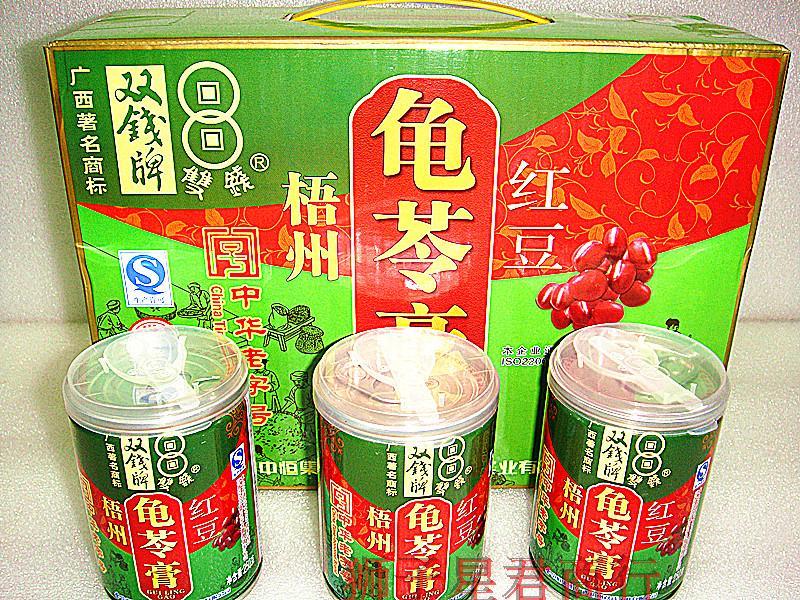 梧州特产_(包邮)广西特产 梧州正宗双钱牌红豆龟苓膏250gx12罐装 美容去痘商品