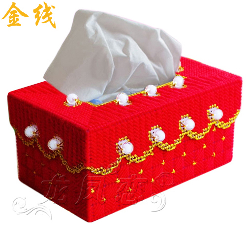 立体绣纸巾盒