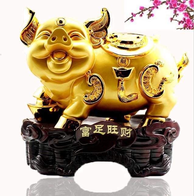 金猪摆件开业礼物大号工艺品 包邮招财猪十二生肖猪摆件小猪摆件商品