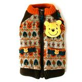 日本宠物衣服秋冬新款PET PE*SE超萌维尼小熊加厚暖暖内绒毛衣