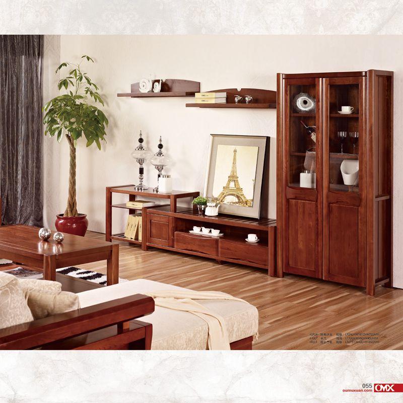 全实木紫金榆木沙发 艺林家具 套房客厅系列 6sf04商品图片价格