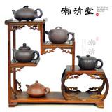 红檀黄檀小博古架 实木多宝架展示紫砂壶茶壶架红木摆件多宝阁