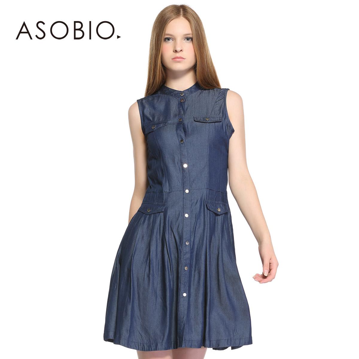 asobio牛仔连衣裙图片
