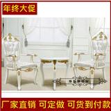 特价欧式美甲椅子客厅布艺实木圈椅阳台咖啡厅桌椅卧室休闲沙发椅