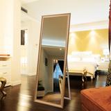 众想 欧式风格试衣镜穿衣镜全身镜 壁挂镜子 实木支架落地镜子