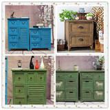 欧式复古实木床头柜储物柜多斗柜