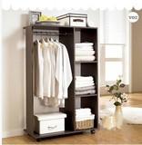 木头陆简易衣柜简约衣橱创意现代移动衣柜板式家具小衣柜特价包邮
