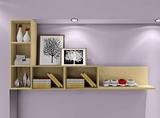 新款 墙上置物架壁柜书柜书架自由组合简约现代 电视背景墙壁壁挂
