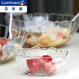 弓箭乐美雅玻璃碗沙拉碗创意厨房透明大号水果盘餐具饺子碗可微波