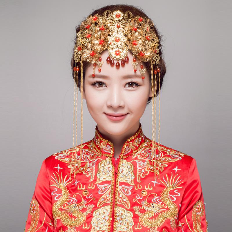 中式新娘头饰图片