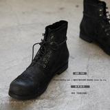 外贸原单出口日本尾货尾单马丁男靴伞兵工装短靴高帮机车男鞋春季