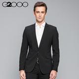 G2000新品男装黑色西服外套商务休闲上班西装春装修身型