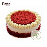 巴特烘焙 红丝绒蛋糕 经典红天鹅蛋糕 生日蛋糕 青岛同城速递配送