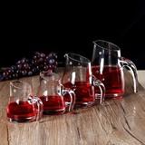 包邮无铅水晶带把刻度白酒分酒器 果汁壶凉水壶醒酒器玻璃扎壶