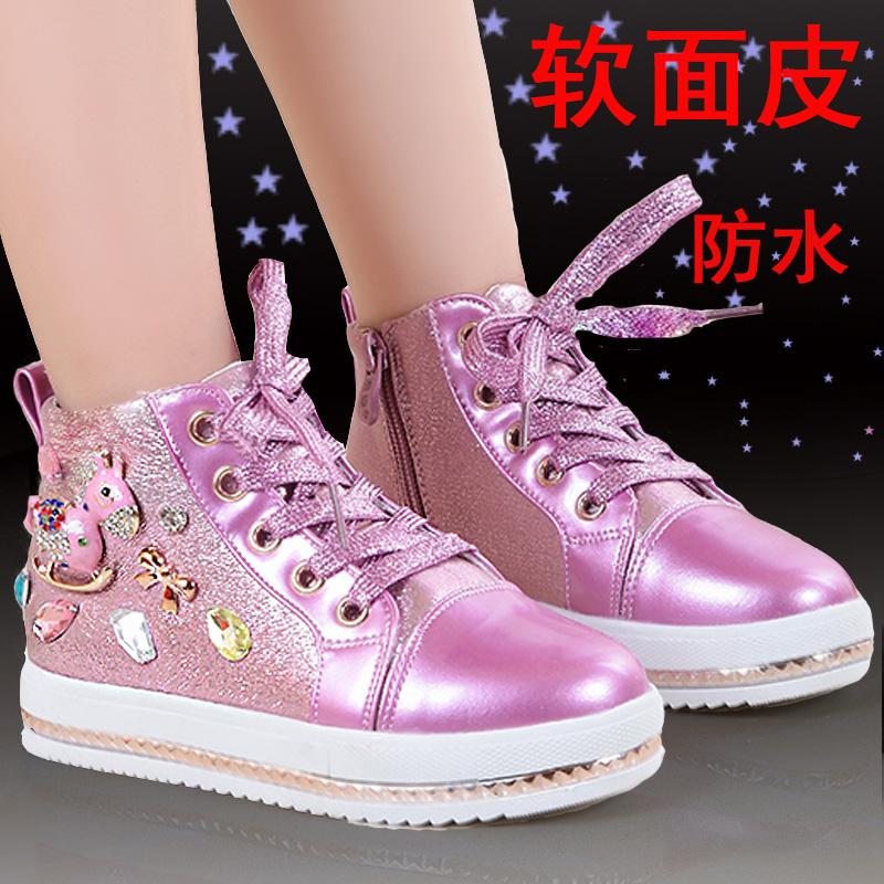 女童秋鞋2014新款韩版潮鞋女孩平底单鞋中大童公主鞋