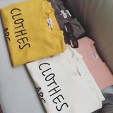 休闲韩范女装新品中长款打底衫刺绣字母韩版加厚短袖T恤学生上衣