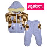 正品波波龙宝宝冬装新款冬季儿童装男童棉衣套装加厚冬Y3288429