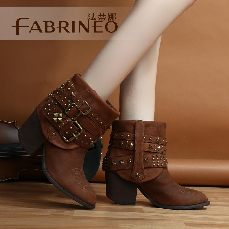 2014秋季新款女靴子创美诗格蕾丝艾曼达森琦贝尔专柜正品短靴女鞋商品图片