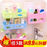 强力吸盘无痕沥水收纳架吸壁式厨房浴室壁挂杂物整理卫生间置物架