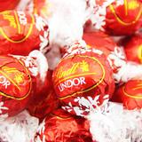 进口瑞士莲Lindt Lindor软心球巧克力红色牛奶巧克力单粒礼物喜糖