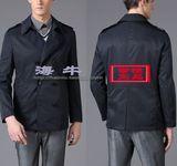 威可多专柜正品 2013深蓝色双排扣男翻领短款风衣外套 原价2980元