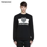【聚】TRENDIANO棉质字母印花套头卫衣3HC104390E